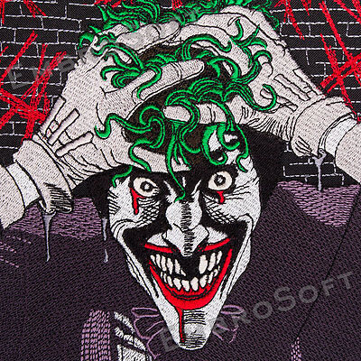 Large Patch JOKER IRON&SEW ON 8.1 x 10.2 and 9.65 x 11.8 inches