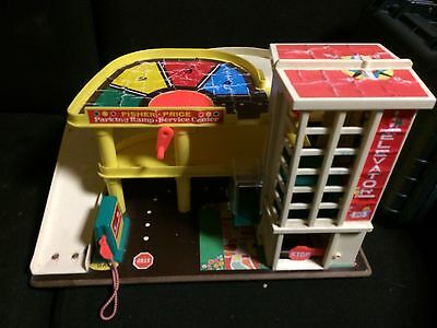 Fisher Price 1970's Garage Working Lift And Bell