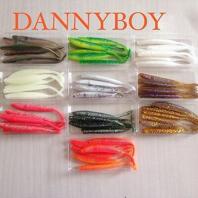 6 Noeby Soft Plastic Fishing Lures + 2 Free Jig Heads!!!