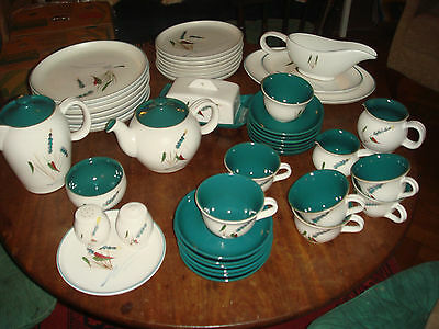 Denby Greenwheat  stoneware Dinner & Tea set, 50 items.