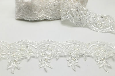 Edging Bridal Lace Embroidered Trimming Ribbon Wedding Floral Sewing Trim