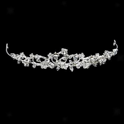 Bridal Rhinestone Crystal Flower Headband Tiara Headpiece
