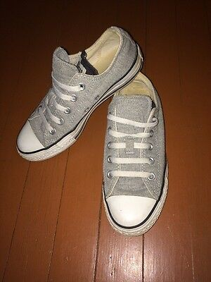 Converse Women's Chuck Taylor All Star Gray Jersey Low Sneakers Shoes Size 6