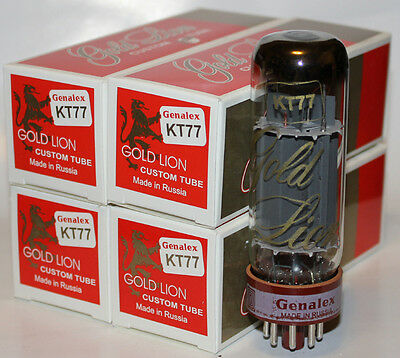 Matched Quads Genalex Gold Lion KT77 tubes,Reissue, NEW