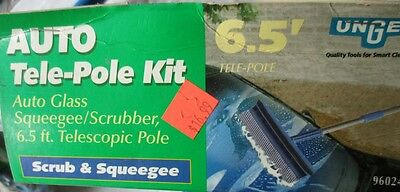 3- Unger Auto-Glass Squeegee Scrubber with 6.5 FT Tele-Pole #96024