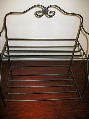 Longaberger Wrought Iron Bakers Rack 2 Tier Shelf Stand Foundry