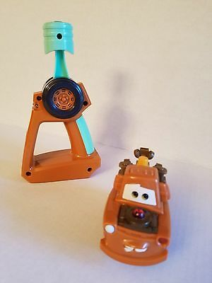 Fisher Price GeoTrax Disney's Cars Turbo Mater RC~Tested & Works! P6247