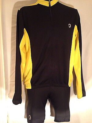 Men's Tenn cycling jersey and padded cycling shorts. size medium