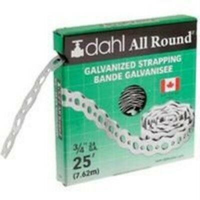 Dahl Brothers Canada Pipe Strap Galvanized 3/4X25Ft 9047