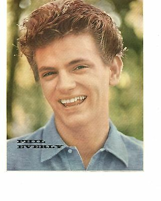 Picture of Phil Everly of the Everly Brothers from 1950s magazine