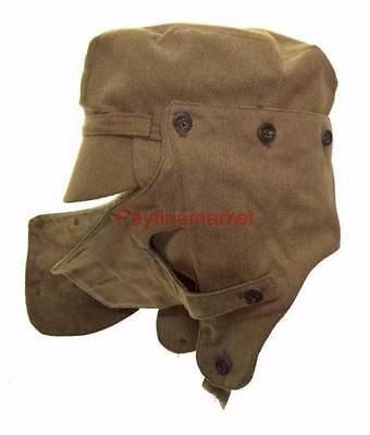 Russian Army USSR Military SYRIYKA Cap with ear-flaps Afghan Face Mask Soviet