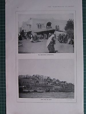 1918 Wwi Ww1 Print ~ The Chief Street In Bethlehem ~ Jaffa From The Water