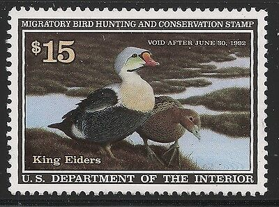 US Scott #RW58, Single 1991 Duck Stamp $15 VF MNH