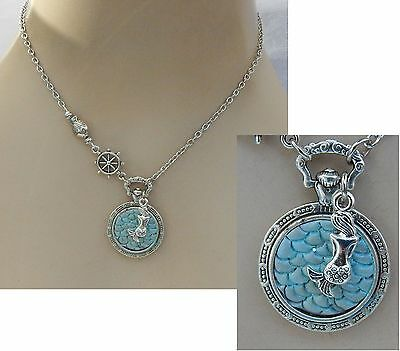Mermaid Scales Pendant Necklace Jewelry Handmade NEW adjustable Silver Fashion