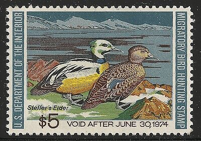US Scott #RW40, Single 1973 Duck Stamp $5 VF MNH