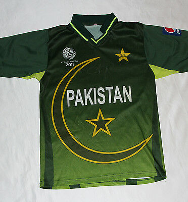 Shahid Afridi Signed Pakistan ODI Cricket Shirt with COA