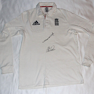 Andrew Flintoff & Ian Botham Signed England Cricket Shirt with COA