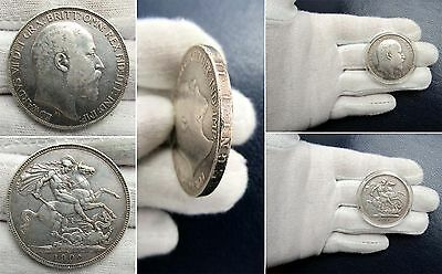 1902 Edward VII .925 Silver Crown  Lightly Circulated Nice! - SP# 3978 / KM# 803