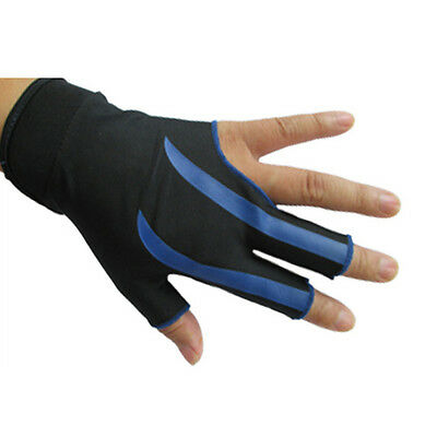 NEW Blue 3-Finger Billiard Gloves Snooker Pool Shooters Glove Left Snooker cue