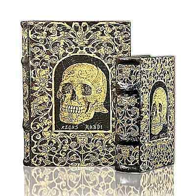 Skull Book Design Hidden Storage Book 10.5 X 8 X 2.75 NWT Enchanted Book Boxes