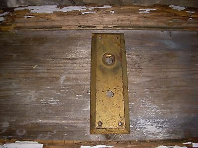 1 Vintage Shabby Rustic Antique Door Knob Back Plate Aged Patina Craft Use