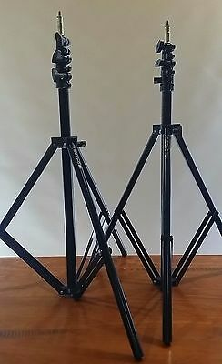 BARTON Portable Heavy Duty Pro Photographic Light Stands (x2)
