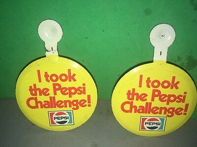 I Took The Pepsi Challenge 2 Clip Pin Buttons Pinbacks Advertising Cola Soda Pop