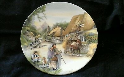 """Royal doulton """" the  thatcher""""   plate"""
