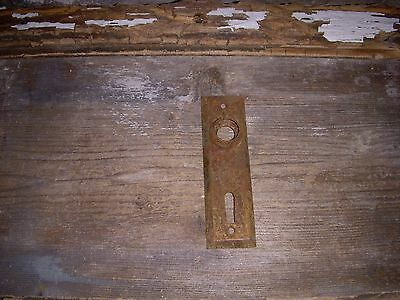 Rustic Shabby Small Metal Antique Door Knob Back Plate, Aged Patina Craft Use
