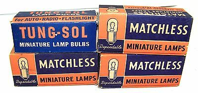 4 Boxes Vintage 1935 MATCHLESS Lamp Bulbs FLASHLIGHT 6-8 Volts #46 Antique