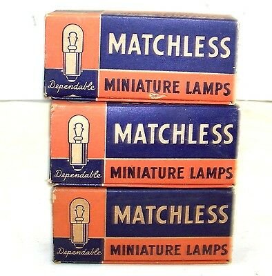 3 Boxes Vintage 1935 MATCHLESS Lamp Bulbs FLASHLIGHT 6-8 Volts #46 Antique