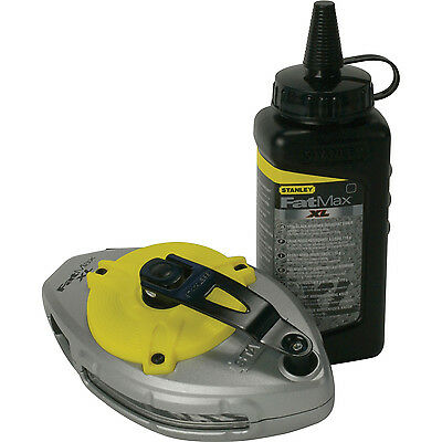 Stanley FatMax XTREME Chalk Line Reel 30m / 100ft with Chalk Refill