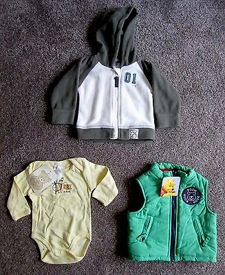 NEW WITH TAGS! Boys Pumpkin Patch Bulk Hoodie, Vest and Onesie Size 000