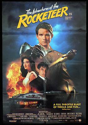THE ROCKETEER One Sheet Movie poster Timothy Dalton