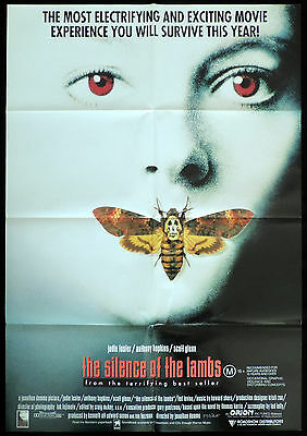 SILENCE OF THE LAMBS One Sheet Movie poster Anthony Hopkins Hannibal Lecter