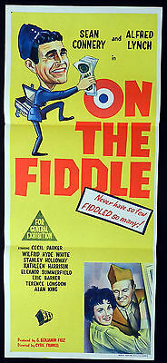 ON THE FIDDLE VINTAGE 1961 Sean Connery VINTAGE Daybill Movie poster