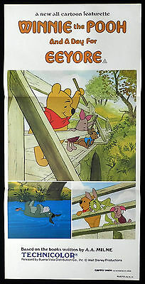 WINNIE THE POOH & A DAY FOR EEYORE 1984 Disney VINTAGE Daybill Movie poster
