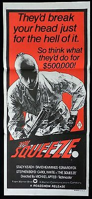 THE SQUEEZE Stacy Keach David Hemmings VINTAGE Original Daybill Movie Poster