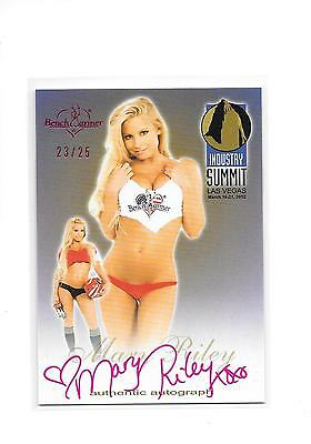 2012 Benchwarmer Industry Summit Mary Riley Pink Foil Auto Autograph 23/25