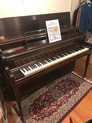 Vintage Mahogany Piano Haddorff Piano Co. Rockford Illinois -  Circa 1920's