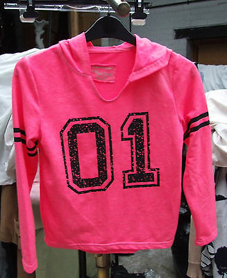 Young Dimension H&M Girls Warm Pink Kids Hoodie T-Shirt Active Top Girl Age 8-9