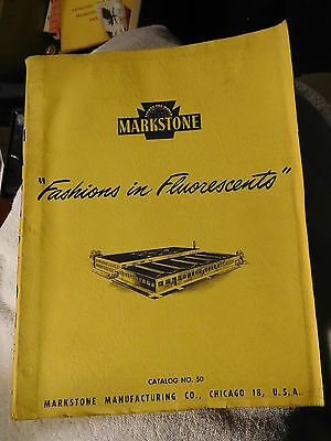 Vintage 1950 Markstone flousescent lighting catalog,lights,with price lists