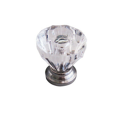 10Pcs/Set Beauty Crystal Glass Door Drawer Cabinet Wardrobe Pull Handle Knobs