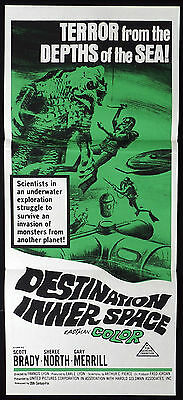 DESTINATION INNER SPACE 1966 Sci Fi VINTAGE Daybill Movie poster