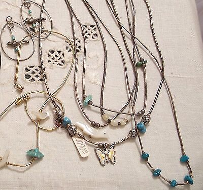 Vintage Group of Southwest Necklaces, Earring Loops
