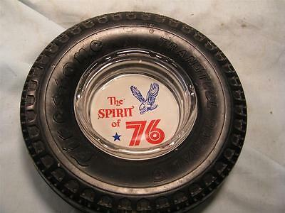 Vintage Firestone Tire Advertising Ashtray Transteel Radial Tire-The Spirit Of 7