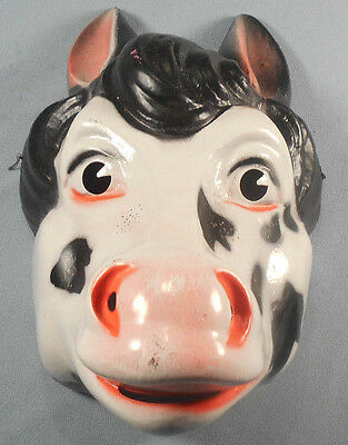 Vintage Vacuform Halloween Mask Made in France For Van Dam Cow