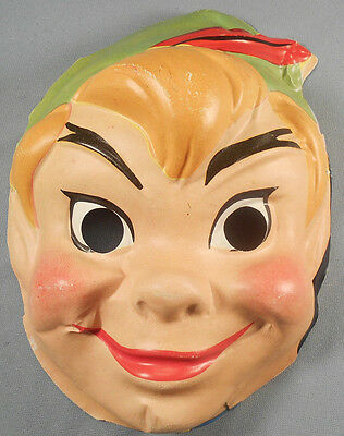 Vintage Vacuform Halloween Mask Unmarked Peter Pan