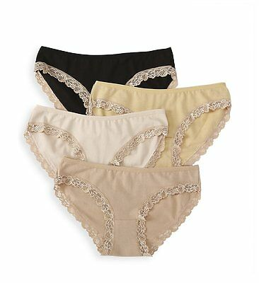 CAKE SIGNATURE COTTON HIPSTER BRIEF  4 PAIR  BASIC PANTY PACK  (neutrals)  M