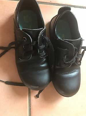 Size 11 Grosby Girls Leather Black School Shoes
